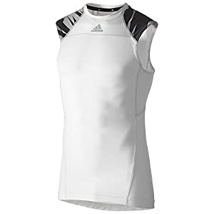 Mens Adidas Compression Sleeveless Camo Tee (Large) by adidas