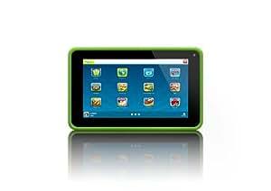 Lenco KIDZTAB-70 17,8 cm (7'') Tablette Tactile (ARM Cortex-A8 Allwinner A13 Dual Core, 1,2GHz, 512MB RAM, 4Go SSD, 2 Cameras, USB, Micro SD-Kartenleser, HDMI, Android 4.2) Vert