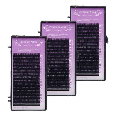 プレミアムミンクタッチ シート Cカール 0.15mm 全サイズMIXA 3個セット