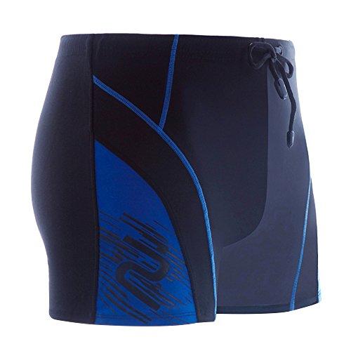 Eizur Uomo bagno Tronchi Calzoncini Elastico Costume da Bagno Rapida Essiccazione Pantaloncini Slip Calzoncini Mutande Watershorts Boxers per Nuoto Spiaggia Mare Piscina Sport Taglia L/XL/XXL (Nero + Rosso / Blu + Blu scuro / Blu + Azzurro)