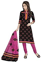 Aarvi Fashion Ethnicwear Women's Dress Material(Black_Free Size)