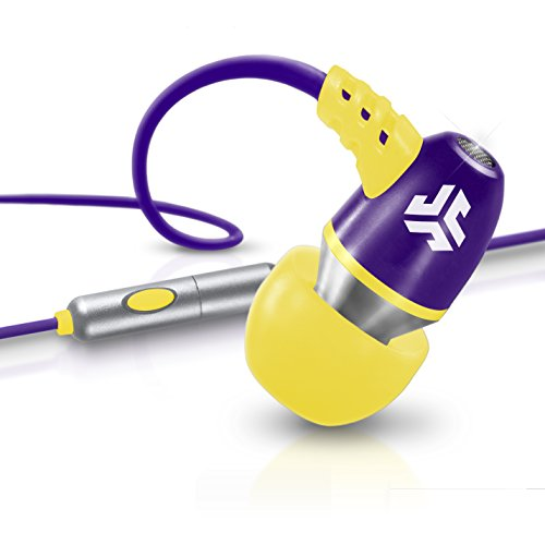 Jlab Jbuds Neon Metal In-Ear Earbuds With Universal Mic For Iphone & Android (Purple/Yellow)