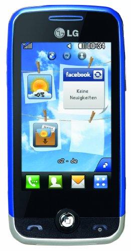 LG GS290 Cookie Fresh Handy (7.6cm (3 Zoll) Display, Touchscreen, 2MP, 3.5mm Anschluss)  silver/blue