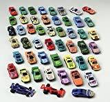 50 PC Race Car Set - Metal Plastic Die Cast Cars Children, Kids, Game