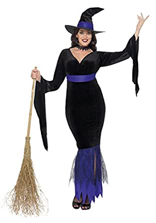 Smiffys womens Women's Plus Size Glamorous Witch Costume