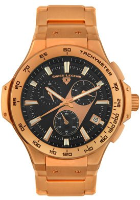 Swiss Legend Men's 40050-RG-11 Maverick Chronograph Rose Gold-Tone Watch