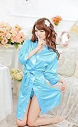 Evana Hot Satin Nightwear Sleepwear Nighty Babydoll (Blue)
