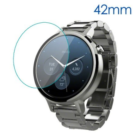 CEDO Round edge 2.5 D Tempered glass for Moto 360 (2nd Gen) Smartwatch (42mm) (Watch not included)