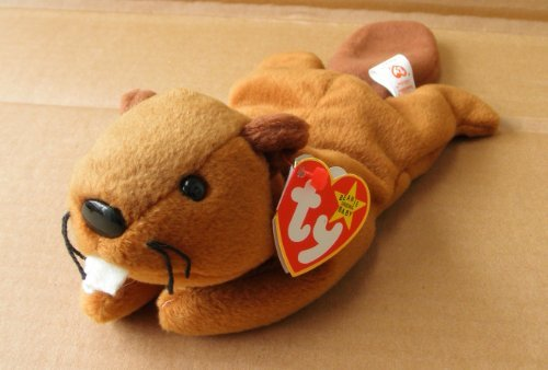 TY Beanie Babies Bucky the Beaver Stuffed Animal Plush Toy - 11 inches long - Brown - Style 4016 - 1