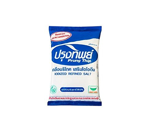 [Prung Thip Lodized Refined Salt for Food and Beverage -- 1 KG.] (Morton Sea Salt Costume)