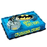Awesome Batman Glider Cake Kit with batman figure, buildings, and symbol ( 22.75x22x18.5 ) Toy / Game / Play / Child / Kid