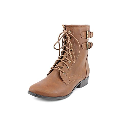 Style & Co Ricky Womens Size 11 Brown Faux Leather Fashion Ankle Boots