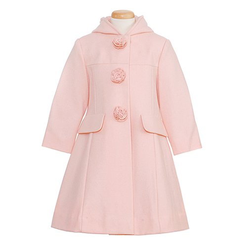 Rothschild Girls Wool Hooded Rose Coat (6)