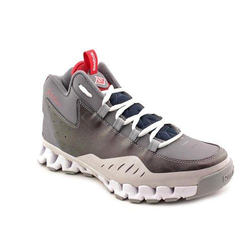 Reebok Wall Season 3 Zig Escape Basketball Shoe (Toddler/Little Kid/Big Kid),Shark/Steel/Flat Grey/Navy/White/Red,11 M Us Little Kid front-1055406