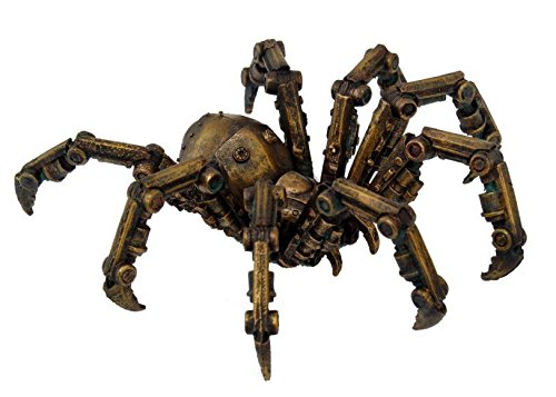 Steampunk Inspired Mechanical Spider Resin Statue