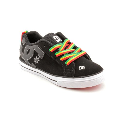 DC Court Graffik Vulc Skate Shoes Black Youth Boys