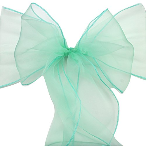 29 Colors 100PCS Organza Chair Cover Sash Bow 18x275CM Wedding Party Reception Banquet Decor 7*108
