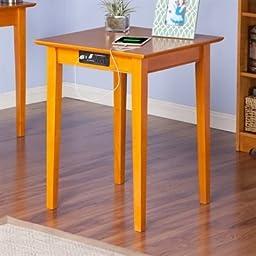 Atlantic Furniture AH10117 Shaker Printer Stand With Charger44; Caramel Latte