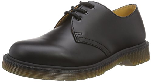 Dr. Martens 1461, Scarpe Basse Stringate Unisex Adulto, Nero (Black Smooth Pw), 37