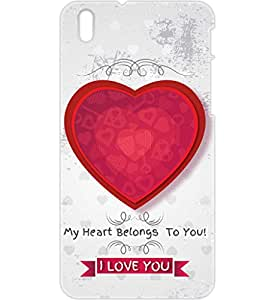 a AND b Designer Printed Mobile Back Cover / Back Case For HTC Desire 816 (HTC_816_3D_677)