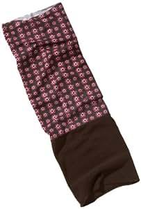 TWISTER Foulard multifonctionnel en laine polaire pour enfants FLOWERS PINK / CHOCO