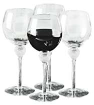 Golf Gifts & Gallery Clubhouse Collection Golf Ball Dimpled Wine Glasses