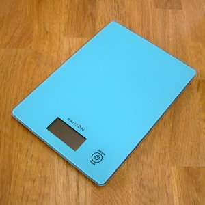 Hanson Slim Touch Sensitive Kitchen Scale, 5 Kg, Aqua