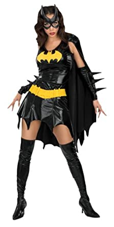 DC Comics Secret Wishes Sexy Deluxe Batgirl Adult Costume,Bat Girl Black,Large