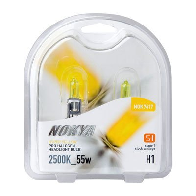 NOKYA Hyper Yellow H1 55w Halogen Headlight Bulbs