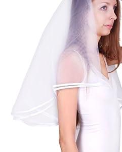 "Low List Price 57"" Graceful Satin Edge Mantilla Wedding Bride Veil"