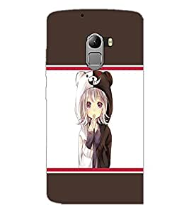 PrintDhaba Cute Girl D-1368 Back Case Cover for LENOVO K4 NOTE A7010 (Multi-Coloured)