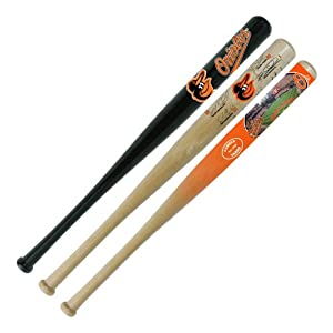 MLB Baltimore Orioles 18-Inch Hardwood Mini Bat Set (Team Logo Signature Stadium) by Coopersburg