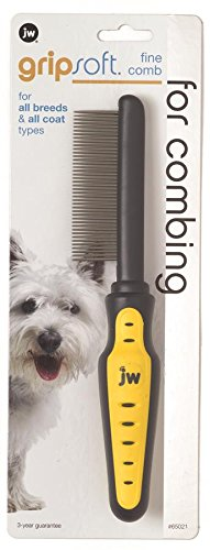 Artikelbild: JW Pet GripSoft Comb Fine Breed Coats Hair Regular Brushing Combing Dog Grooming