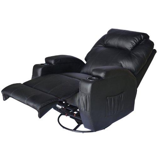 Homcom® Massagesessel Relaxsessel Fernsehsessel TV Sessel mit Heizfunktion Massagefunktion (schwarz/mit Heizfunktion)