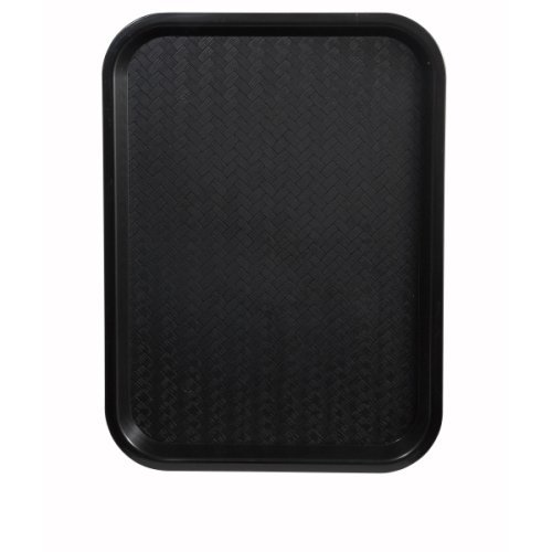 Winco FFT-1014K Fast Food Tray, 10-Inch by 14-Inch, Black, Set of 12 (Black Paper Food Tray compare prices)