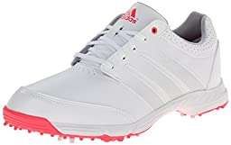 adidas Women\'s W Response Light Golf Shoe, Running White/Silver Metallic/Flash Red, 7.5 M US
