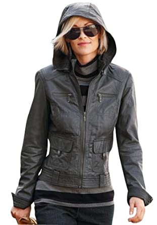 lederjacke mit kapuze damen braun myitalia pictures to pin on. Black Bedroom Furniture Sets. Home Design Ideas