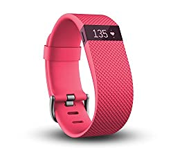 Fitbit Charge Heart Rate and Activity Wristband, Small (Pink)