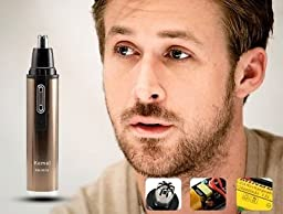 Perfect tool for grooming excess hair in difficult to reach places : New 2 in1 Men Ear Nose Neck Face Eyebrow Hair Beard Shaver Trimmer Clipper A74