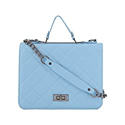 Jewlot Blue PU Women's Handbags 1065