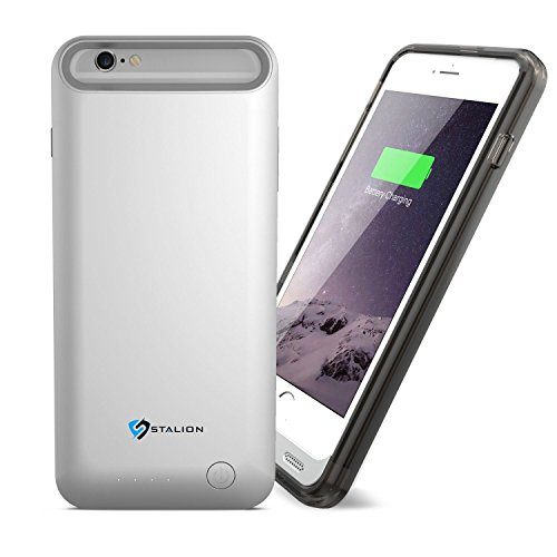 iPhone 6 Plus / 6s Plus Battery Case : Stalion® Stamina Rechargeable Extended Charging Case  with 2 Interchangeable Frames + LED Charge Indicator Light
