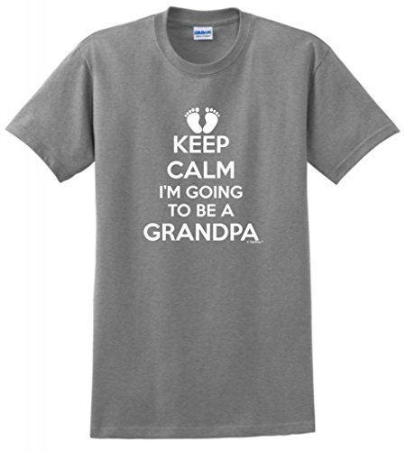 Keep Calm I'M Going To Be A Grandpa T-Shirt 2Xl Sport Grey front-897682