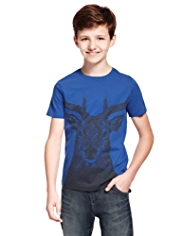 Pure Cotton Stag T-Shirt