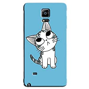 CUTE CAT BACK COVER FOR SAMSUNG GALAXY NOTE 4