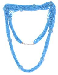 V3 Craft's Tonal Seed Beads Long Necklace For Women