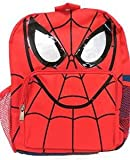 """Marvel Spiderman Spider Man Face Kids Backpack 12"""""""