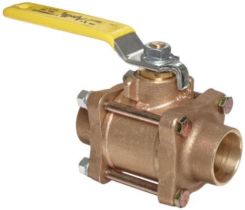 Industrial Lever Ball Valve End : Apollo series bronze ball valve three piece