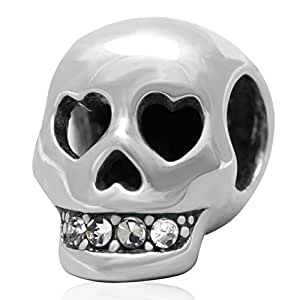 925 sterling silver skull charm