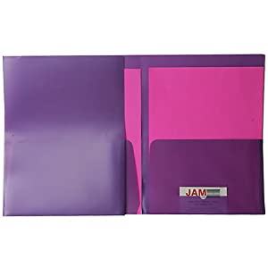 Purple Pearl 9x12 Plastic Regular Weight Two Pocket Folders - Sold individually