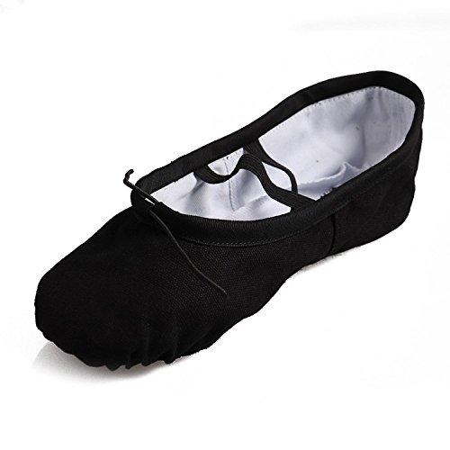 tante-tina-zapatillas-de-ballet-lara-de-lino-con-bailarinas-negro-talla-35